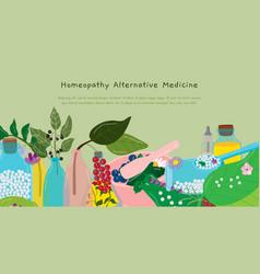 Homeopathy alternative medicine vector