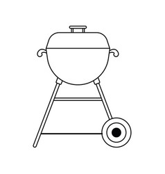 Icon of barbecue vector