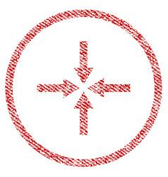 Impact arrows fabric textured icon vector