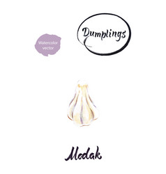 indian dumpling modak watercolor vector image