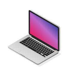 isometric laptop modern realistic desktop vector image