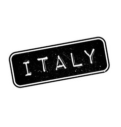 Italy rubber stamp vector
