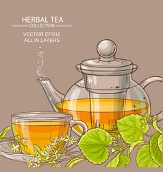 Linden tea background vector