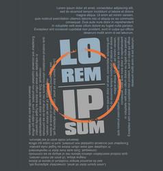 lorem ipsum text as tee shirt design template vector image