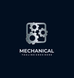mechanical gear service industry design template vector image