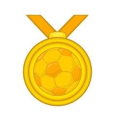 Medal in football icon cartoon style vector image