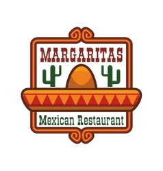 Mexican restaurant icon or emblem vector