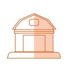 monocromatic barn design vector image