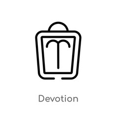 Outline devotion icon isolated black simple line vector