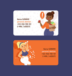 personal dietitian set business cards vector image