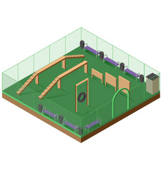 platform for walking and dog training 3d isometric vector image