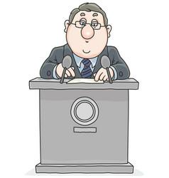 Politician giving a speech vector