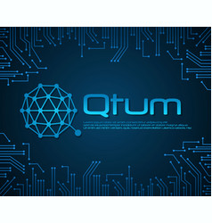 Qtum bitcoin background style collection vector