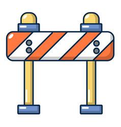road block icon cartoon style vector image