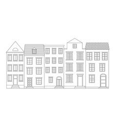 Row houses vector