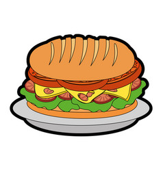 Sandwich food vector