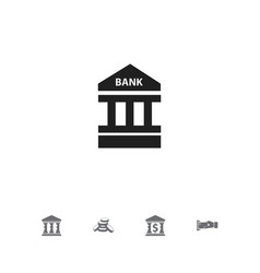 set of 5 editable banking icons includes symbols vector image vector image