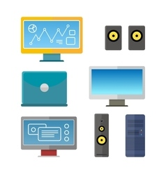 Set of Computer Peripherals vector image