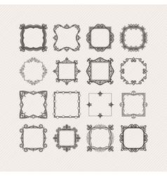Set of ornate mandala borders and frames vector