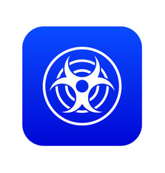 sign of biological threat icon digital blue vector image