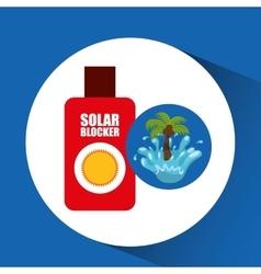 Solar blocker water splash palm summer vacation vector