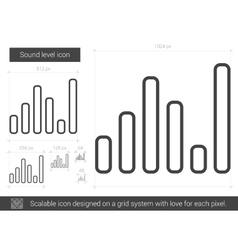Sound level line icon vector
