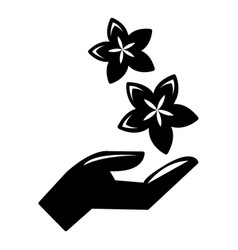 spa hand care icon simple style vector image