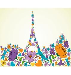 Springtime Paris vector image