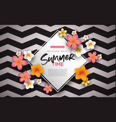 summer background template exotic flowers vector image