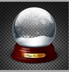 Transparent sphere with and snow highly realistic vector