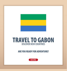 Travel to gabon discover and explore new vector