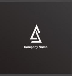 triagle logo vector image