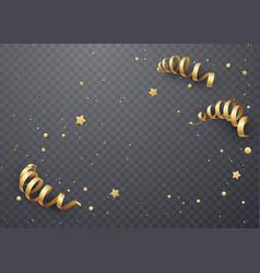 golden serpentine on a transparent background vector image vector image