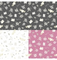 One seamless pattern on three various backgrounds vector image