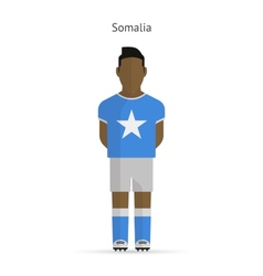 Somalia football player soccer uniform vector