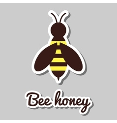 Bee Honey Sticker vector image
