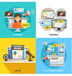blogger square design concept vector image