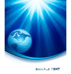 blue neon elegant background with globe vector image vector image