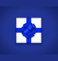 modern gift box with bow ribbon vector image