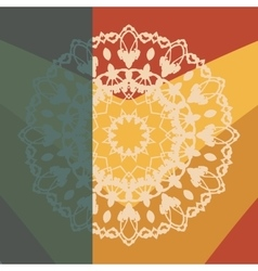 Abstract cover background with round lace pattern vector image vector image
