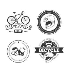 Bicycle bike vintage labels emblems vector image vector image