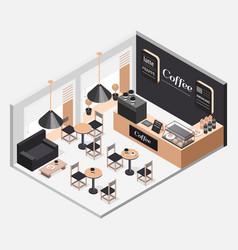 interior of coffee shop vector image vector image