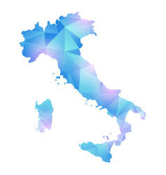 map of italy polygon vector image vector image