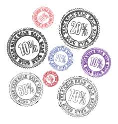 stamps sale vector image