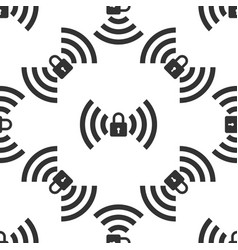 wifi locked sign icon seamless pattern vector image vector image