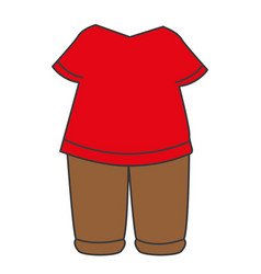 baseball player uniform icon vector image