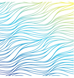 color wave background blue abstract sea texture vector image