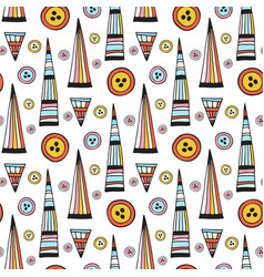 Handmade seamless pattern abstract repeat vector