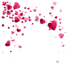 Whirlwind Confetti of Hearts vector image
