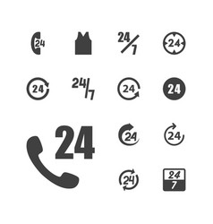 13 24 icons vector